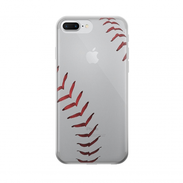 Clear Baseball Iphone 7 plus Transparent Case