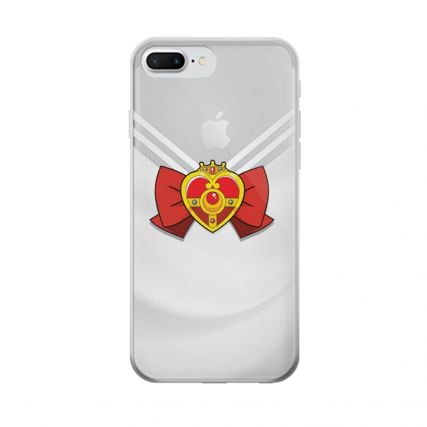 Clear Sailor Moon Brooch and Bow Iphone 7 plus Transparent Case