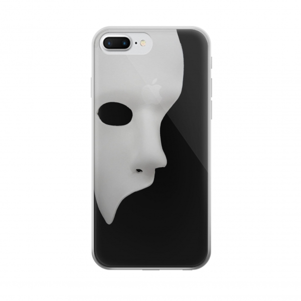 Clear Phantom of The Opera Mask Iphone 7 plus Transparent Case