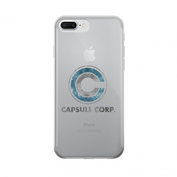 Clear Dragonball Capsule Corp Symbol Iphone 7 plus Transparent Case