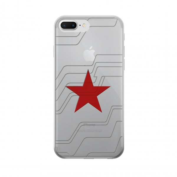 Clear Winter Soldier Bucky Arm Texture Iphone 7 plus Transparent Case