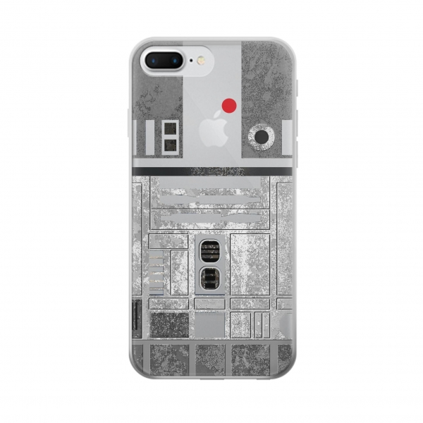 Clear Vintage R2D2 Minimalist Iphone 7 plus Transparent Case