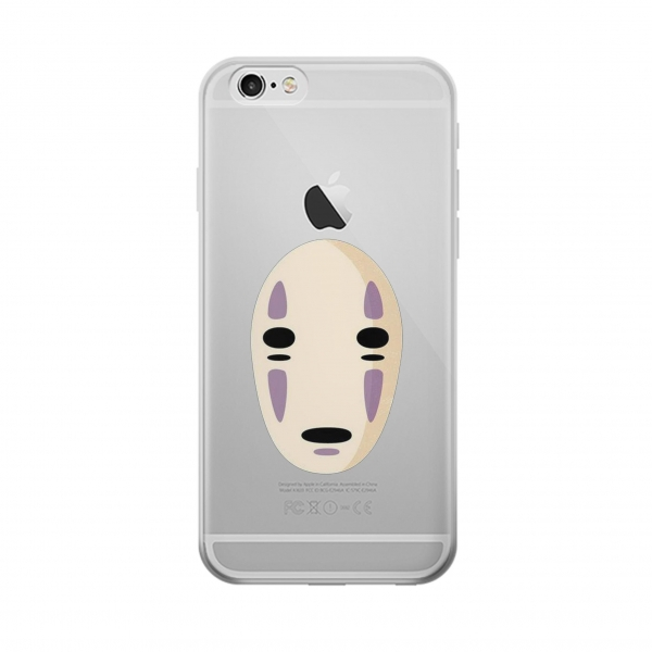 Transparent Spirited Away No Face Clear Case For IPhone 6
