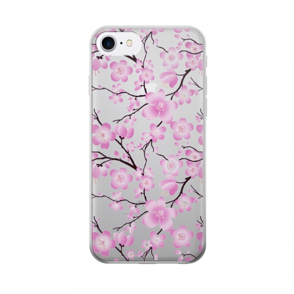 Clear Sakura Cherry Blossoms Iphone 7 Transparent Case