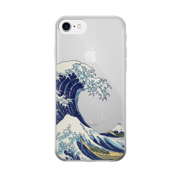 Clear Under the Wave off Kanagawa Iphone 7 Transparent Case