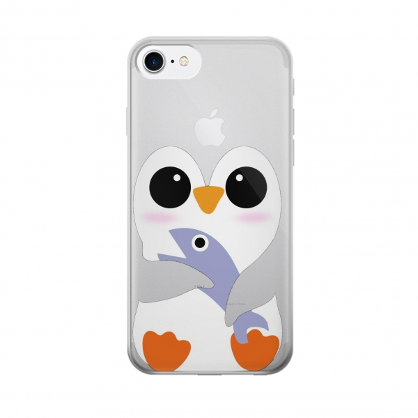Clear Cute Baby Penguin Iphone 7 Transparent Case