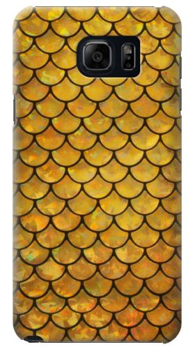 Printed Gold Fish Scale Samsung Galaxy S6 edge plus Case