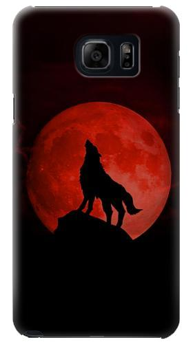 Printed Wolf Howling Red Moon Samsung Galaxy S6 edge plus Case