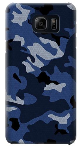 Printed Navy Blue Camouflage Samsung Galaxy S6 edge plus Case