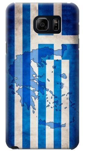 Printed Greece Map Flag Samsung Galaxy S6 edge plus Case
