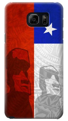 Printed Chile Polynesian Flag Samsung Galaxy S6 edge plus Case