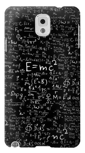 Printed Mathematics Physics Blackboard Equation Samsung Note 3 Case