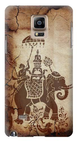 Printed Thai Art Buddha on Elephant Samsung Note 4 Case