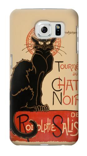 Printed Chat Noir The Black Cat Samsung Galaxy S6 Case