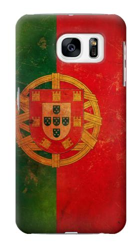 Printed Vintage Portugal Flag Samsung Galaxy S7 Case