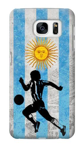Printed Argentina Football Flag Samsung Galaxy S7 Case