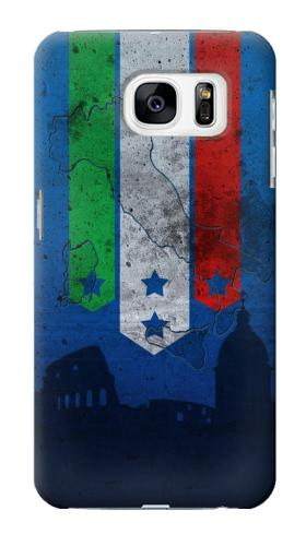Printed Italy Football Flag Samsung Galaxy S7 Case