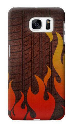 Printed Rally Car Tire Samsung Galaxy S7 Case