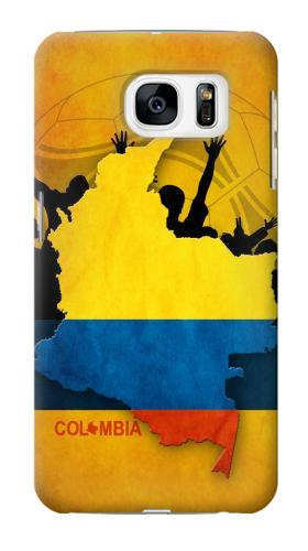 Printed Colombia Football Flag Samsung Galaxy S7 Case