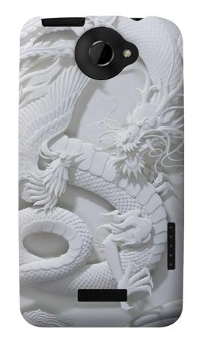 Printed Dragon Carving HTC One X Case
