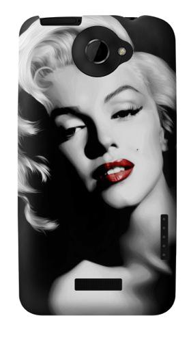 Printed Marilyn Monroe HTC One X Case