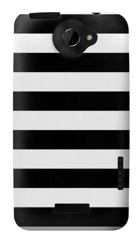 Printed Black and White Striped HTC One X Case