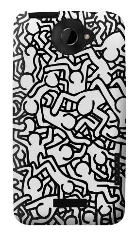 Printed Keith Haring Art HTC One X Case
