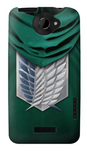 Printed Attack on Titan Scouting Legion Rivaille Green Cloak HTC One X Case