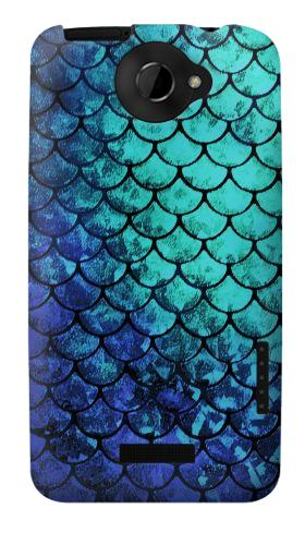 Printed Green Mermaid Fish Scale HTC One X Case