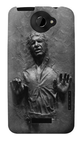 Printed Han Solo Frozen in Carbonite HTC One X Case