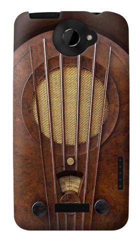 Printed Vintage Bakelite Deco Radio HTC One X Case