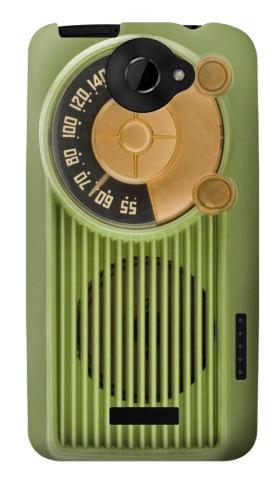 Printed Vintage Bakelite Radio Green HTC One X Case