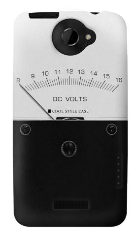 Printed DC Analog Voltmeter HTC One X Case