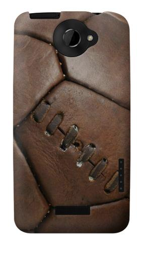 Printed Vintage Genuine Leather Soccer Football HTC One X Case