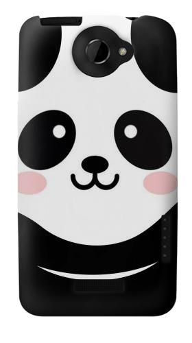Printed Cute Panda Cartoon HTC One X Case