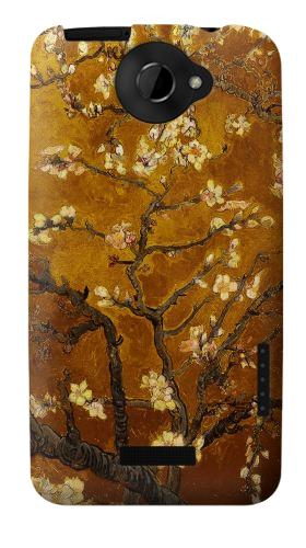 Printed Yellow Blossoming Almond Tree Van Gogh HTC One X Case