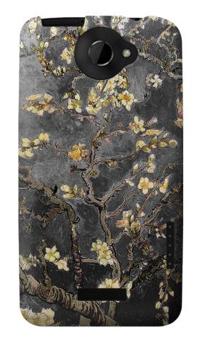 Printed Black Blossoming Almond Tree Van Gogh HTC One X Case