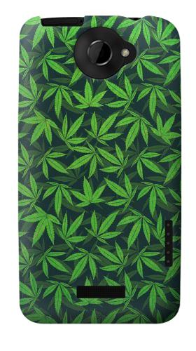 Printed Marijuana Pattern HTC One X Case