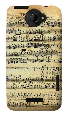 Printed The Fowler Mozart Music Sheet HTC One X Case
