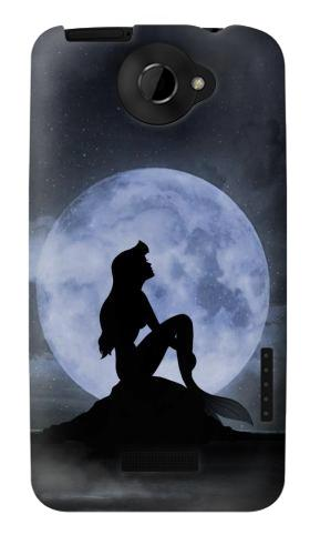 Printed Mermaid Moon Night HTC One X Case