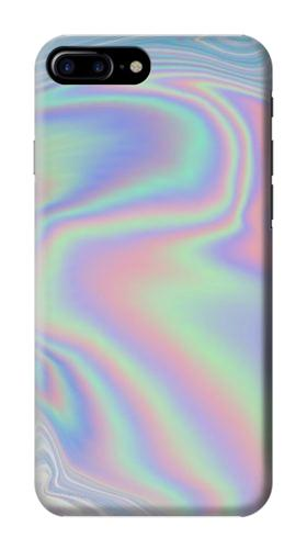 Printed Pastel Holographic Photo Printed Iphone 7 plus Case