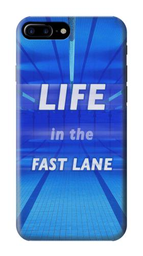 Printed Life in the Fast Lane Swimming Pool Iphone 7 plus Case
