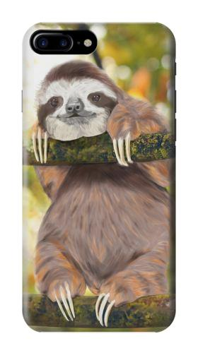 Printed Cute Baby Sloth Paint Iphone 7 plus Case