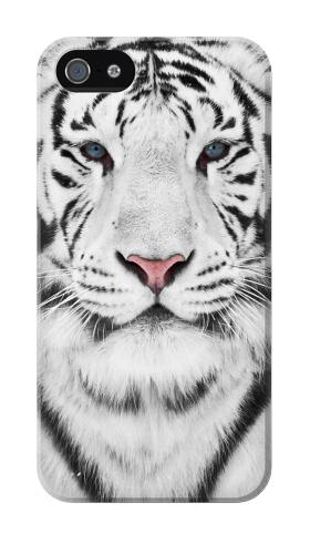 Printed White Tiger Iphone 4 Case