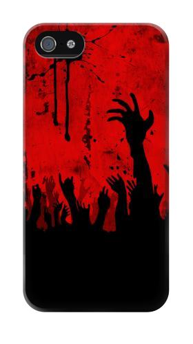 Printed Zombie Hands Iphone 4 Case