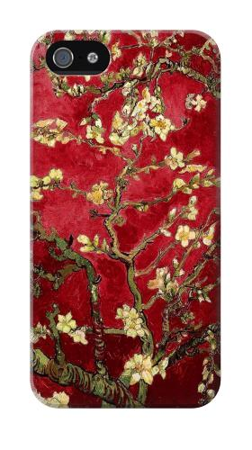 Printed Red Blossoming Almond Tree Van Gogh Iphone 4 Case