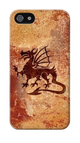 Printed Dragon Metal Texture Iphone 4 Case