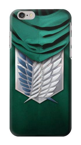 Printed Attack on Titan Scouting Legion Rivaille Green Cloak Iphone 6 Case