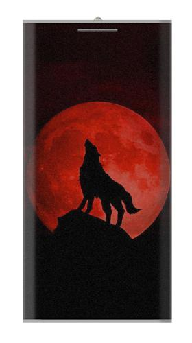 Wolf Howling Red Moon Iphone6 Case