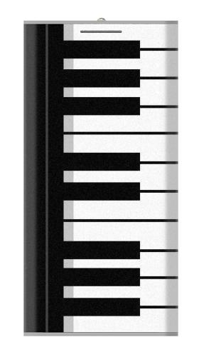 Black and White Piano Keyboard Iphone6 Case